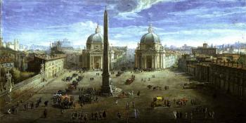 View of the Piazza Del Popolo by 
