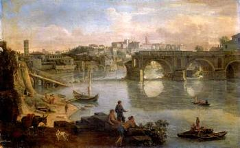 Views the Tiber, Rome by 
