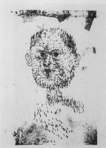 Head - bearded man by PAUL KLEE