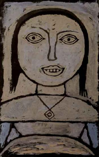 Krankes madchen - sick girl by PAUL KLEE