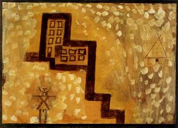 Das haus in der hohe - the house on high by PAUL KLEE