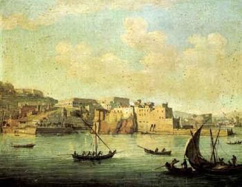 Darsena, Naples. Naples from the sea with Castel dell'Ovo by 