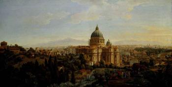 Rome, a view of the apse of Saint Peter's Basilica looking east by  Gaspar van Wittel