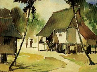 Rural village in Malaya by  YONG MUN SEN