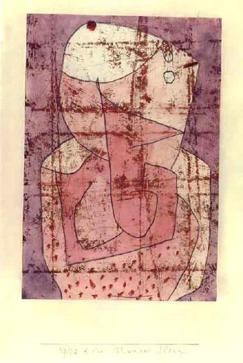 Swiss clown by PAUL KLEE