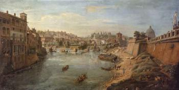 Tiber beneath the bastions of the Castel Sant'Angelo, Rome by 