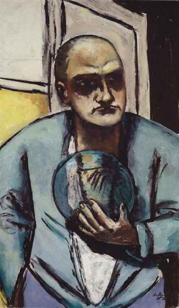 Self-portrait with crystal ball by 
