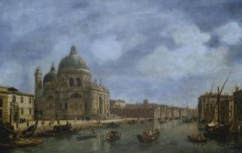 In Venice, view of Santa Maria della Salute and Grand Canal by 
