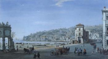 Tower of Chiaia, Naples, with Mergellina and Posillipo by 