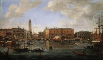 Venice, view of the Molo from the Bacino di San Marco by  Gaspar van Wittel