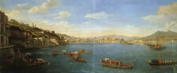 Prospect of Posillipo with the Palazzo Donn'Anna and Naples in the background by  Gaspar van Wittel
