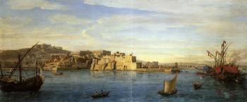 Prospect of Naples from the sea by  Gaspar van Wittel