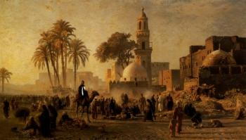 Arabian landscape by Ernst Karl Eugen Koerner | Blouin Art Sales Index