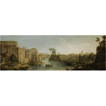 Rome, A View Of The River Tiber And The Ponte Sisto by  Gaspar van Wittel