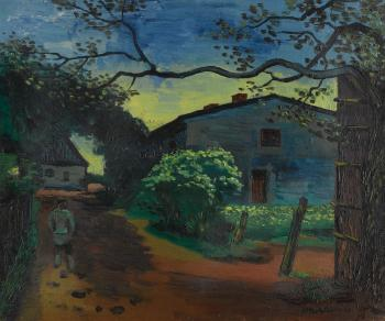 Vor Sonnenaufgang ( Before Sunrise) by MAX PECHSTEIN
