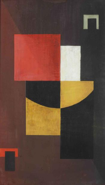 Abstract composition by GOVIND MADHAV SOLEGAONKAR