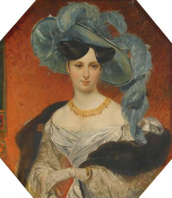 Portrait Of Princess Stephanie Radziwil (1809-1832) by  RUSSIAN SCHOOL