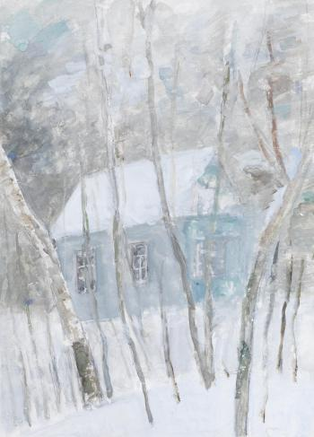 Wintertime at the dacha by ROBERT RAFAILOVICH FALK