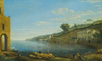 Naples, a View Of Villa Martinelli At Posillipo by 