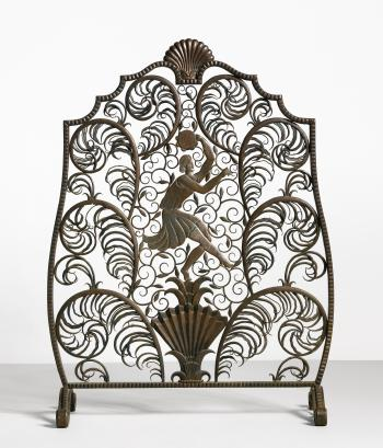 Danseur Fire Screen by EDGAR BRANDT