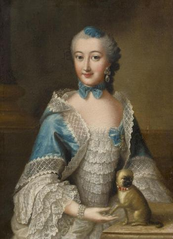 Portrait Of a Lady From The Order Of The Pug by ANNA ROSINA LISIEWSKA