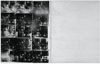 Silver Car Crash (Double Disaster) by ANDY WARHOL