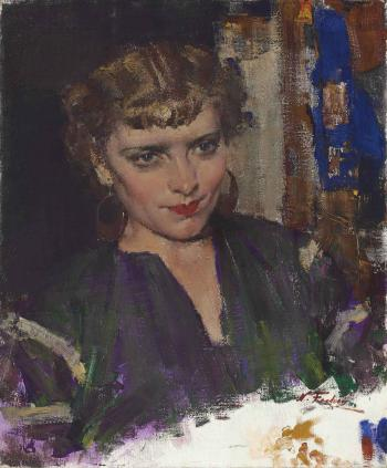 Portrait of marucia a russian singer by nicolai fechin for Nicolai fechin paintings for sale