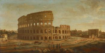 The Colosseum and the Arch of Constantine by  Gaspar van Wittel
