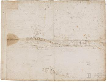 A View Of The Bay Of Sorrento Drawn From A Terrace (recto); The Small Port Of Marina Grande In Sorrento, With The Beach And Houses On The Shore, Boats Anchored In The Bay (verso) by 