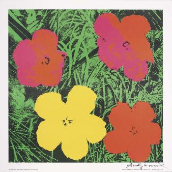 flowers by andy warhol blouin art sales index. Black Bedroom Furniture Sets. Home Design Ideas