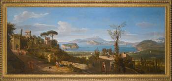 A View of The Bay of Pozzuoli, Near Naples, Taken from The East, Looking Towards The Port of Baia, with The Islands of Nisida, Procida And Ischia by  Gaspar van Wittel