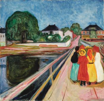 Pikene På Broen (Girls on the Bridge) by EDVARD MUNCH