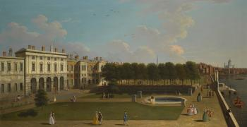 London, A View of The Thames from The Terrace of Old Somerset House, Saint Paul's in The Distance by  CANALETTO