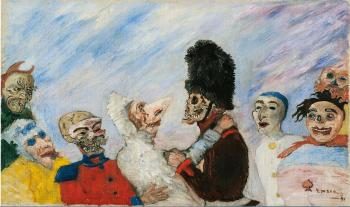 Squellette arrêtant masques by JAMES ENSOR