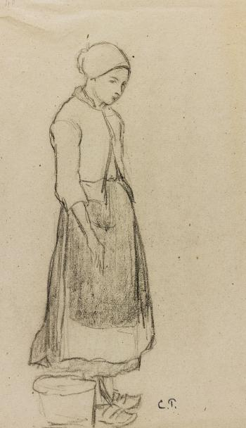 Paysanne by CAMILLE PISSARRO