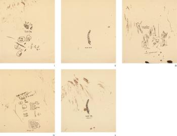 Untitled (From Leonardo) (Set of 5) by JEAN-MICHEL BASQUIAT