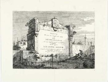 Title page from Vedute Altre prese da i Luoghi altre ideate by  CANALETTO