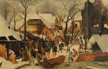 The Adoration Of The Magi In The Snow by PIETER BRUEGHEL