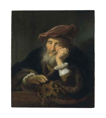 An old man at a casement by GOVAERT FLINCK