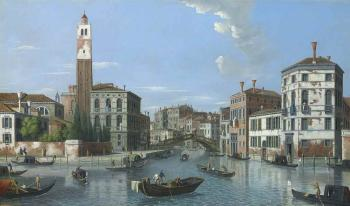The Grand Canal, Venice, with San Geremia, Palazzo Labia, and the entrance to the Cannareggio by  CANALETTO