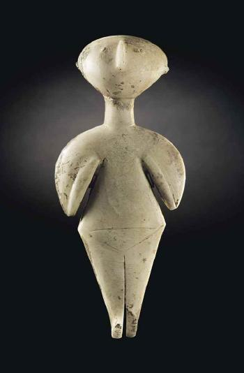 An Anatolian Marble Female Idol of Kiliya Type by  TURKISH SCHOOL