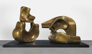 Large Four Piece Reclining Figure by HENRY MOORE