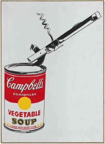 Big Campbell's Soup Can with Can Opener (Vegetable) by ANDY WARHOL