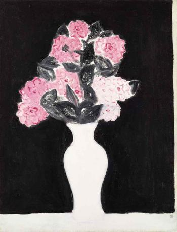 Flowers in a White Vase by  SAN-YU