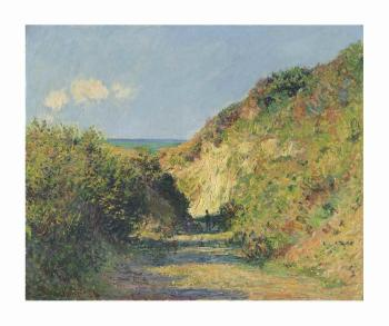 Le Chemin Creux by CLAUDE MONET
