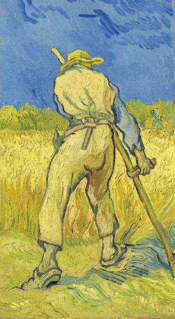 Le Moissonneur (D'apr�s Millet) by VINCENT VAN GOGH