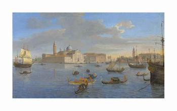 The Island Of San Giorgio Maggiore, Venice, Viewed From The Bacino by 