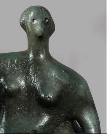 Seated Woman by HENRY MOORE
