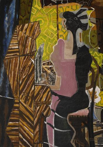 La Pianiste  by GEORGES BRAQUE