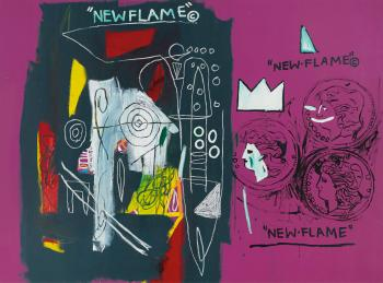 New Flame by JEAN-MICHEL BASQUIAT